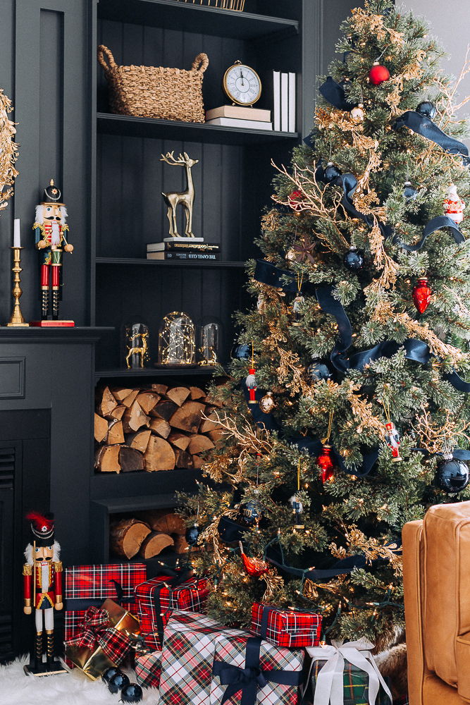 Red Blue And Gold Christmas Tree