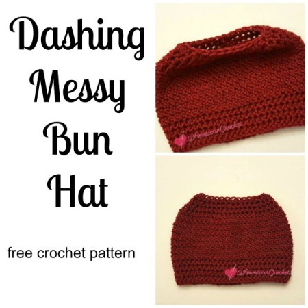 Messy Bun Hat Phenomenon - 10 Free crochet patterns | CraftCoalition.com Roundup