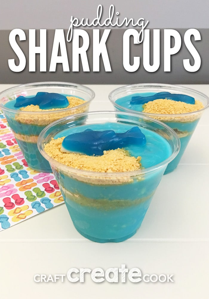 You'll want to make these fun and yummy Shark Week Pudding Cups.