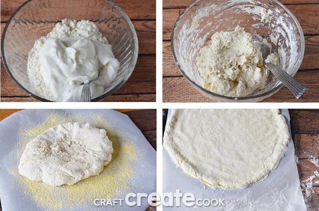 2 Ingredient Homemade Pizza Dough