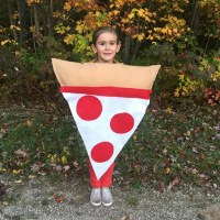 Easy No Sew Kids Pizza Costume