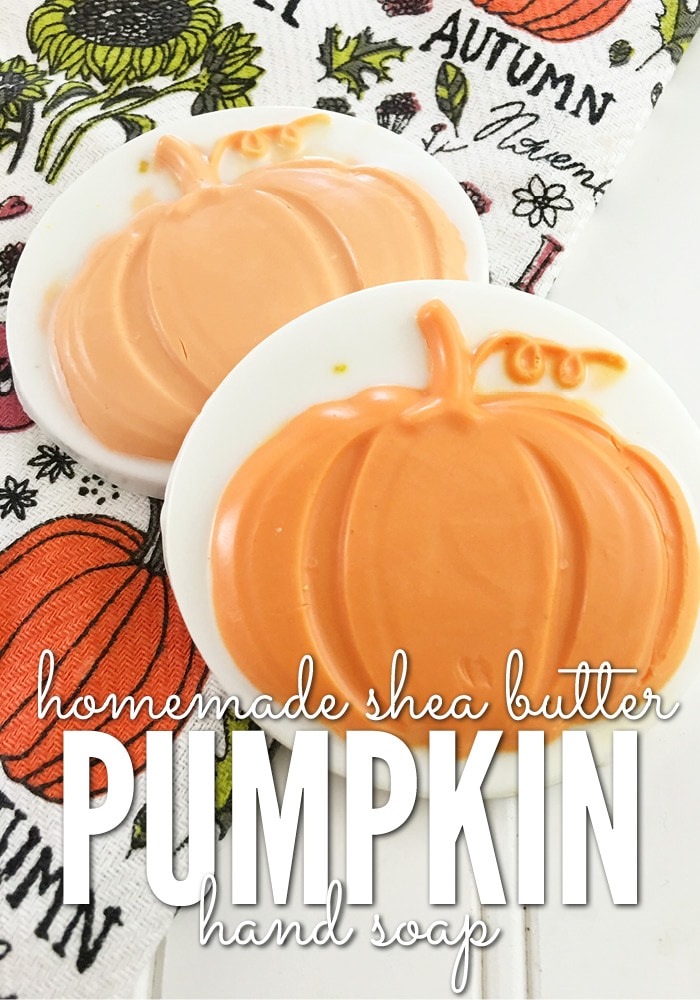 If you're hosting a fall event this year, this easy homemade shea butter hand soap is perfect for your guest bathroom.