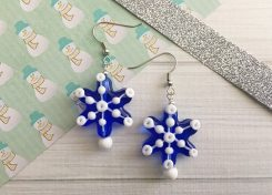 If you're a snow lover and jewelry wearer, add these DIY Snowflake Earrings to your to-do list.