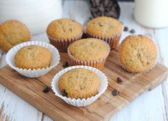 These Banana Mocha Chocolate Chip Muffins are perfect for a quick snack or breakfast!