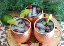 This light and refreshing Cranberry & Lime Holiday Spritzer is the perfect drink during the holidays!