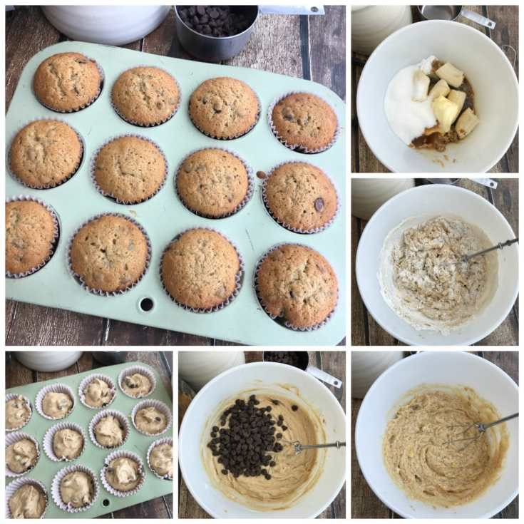 Banana Mocha Chocolate Chip Muffins Recipe