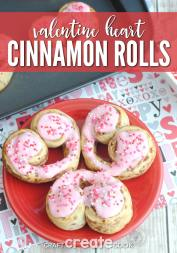 Make adorable Cinnamon Roll Hearts with Jill from Craft Create Cook.