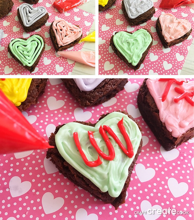I love making desserts and crafts for Valentine's Day, these Conversation Heart Brownies were especially fun.