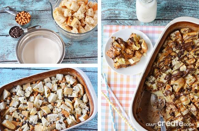 Chocolate Caramel Bread Pudding Recipe