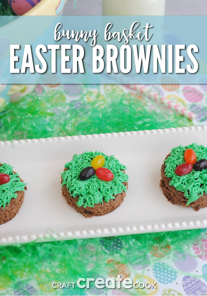 Bunny Basket Easter Brownies are cute and tasty!