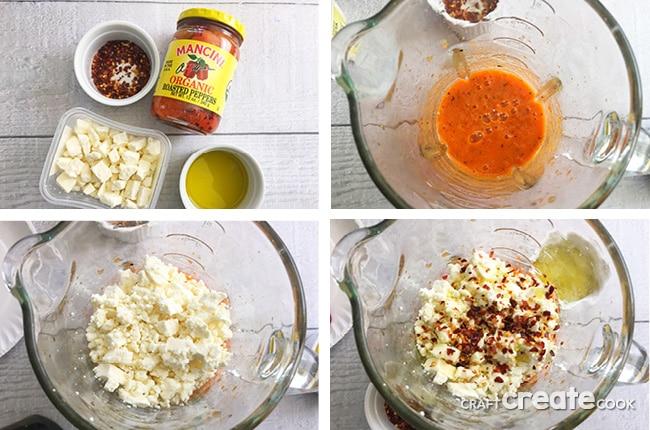 4 Ingredient Fiery Feta Dip