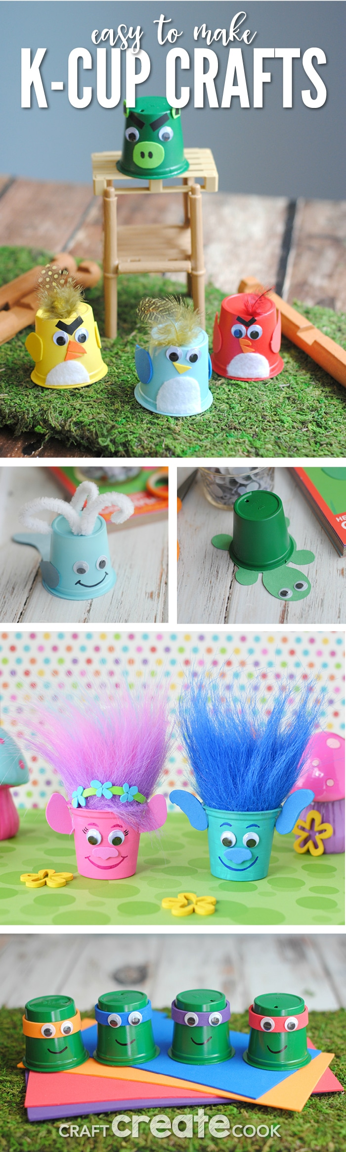 Upcycle and Reuse K-Cups to make these fun k-cup crafts!
