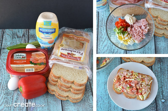 This Honey Ham Egg Salad Sandwich is perfect for busy weeknights as a meal or pack as a nutritious lunch during the work week.