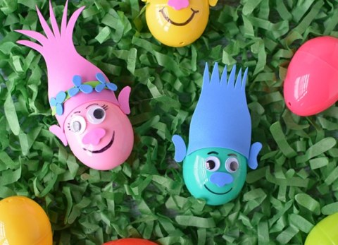 "Make Your Own Trolls Easter Eggs and put some ""Sunshine In Your Pocket!"""