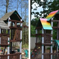 Outdoor Playset Makeover