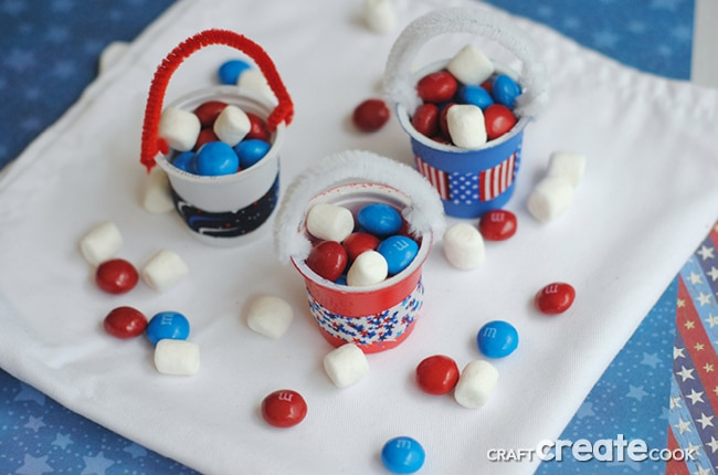 Red, white and blue patriotic k-cups are the perfect Memorial Day or July 4th treat!