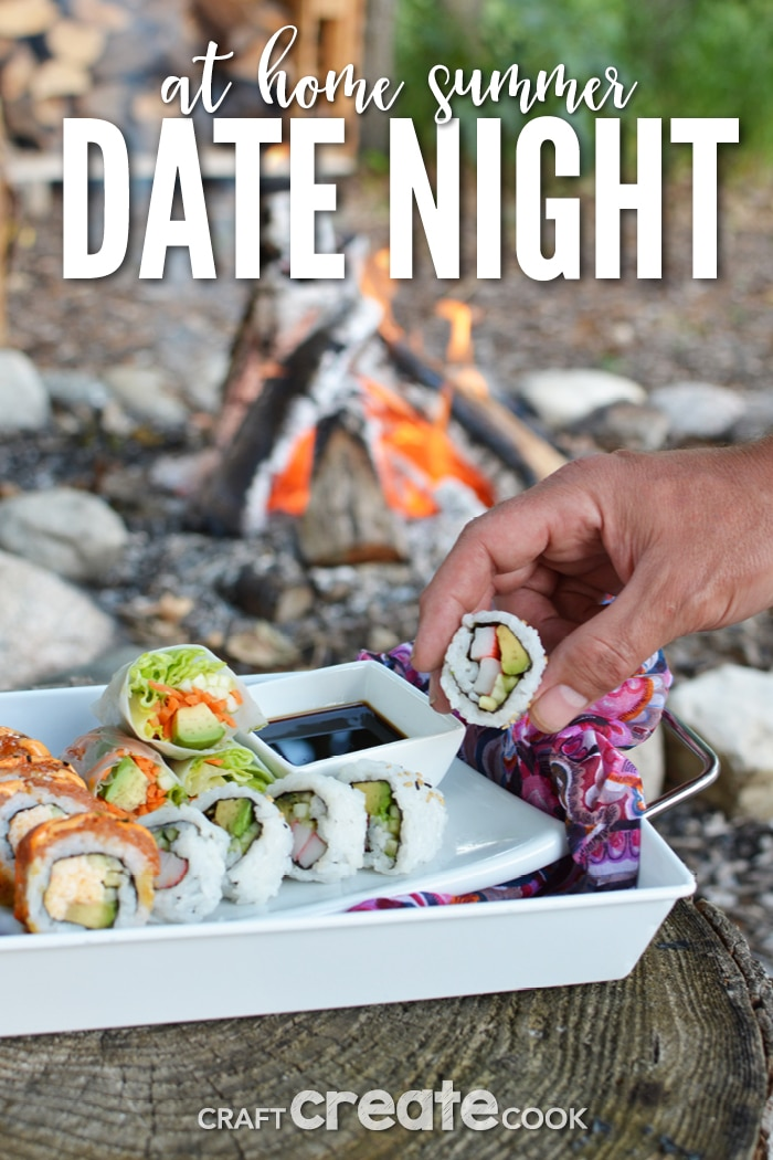 A low-key summer at home date night is just what you and your significant other need! This simple act can help you relax, reconnect and enjoy the quiet.