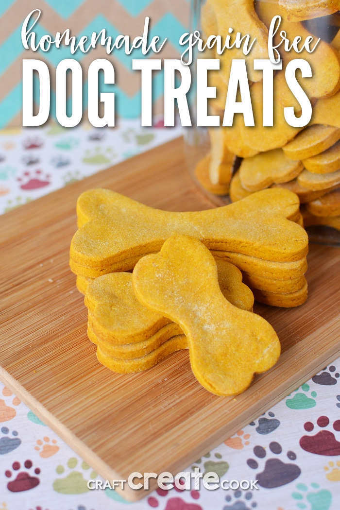 5 ingredient homemade grain free dog treats will be a big hit with your spoiled K9!