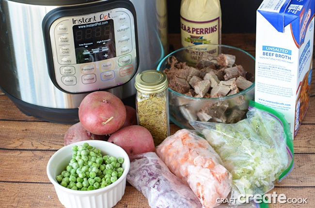 Our classic comfort food recipe is easily adapted to make an Instant Pot Beef Stew.