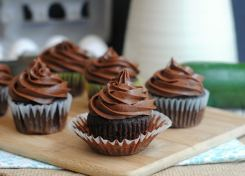 These chocolate zucchini cupcakes with buttercream frosting are so delicious, you won't know there is zucchini in them!