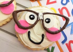 """""""Smart Cookie"""" Sugar Cookies are the perfect back to school treat for your kids first day of school."""