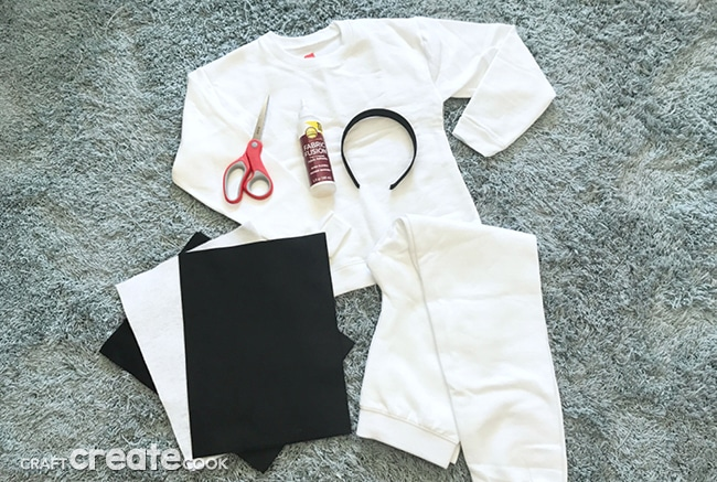 This No Sew Kids Cow Costume is easy to make and comes together in only a few hours!