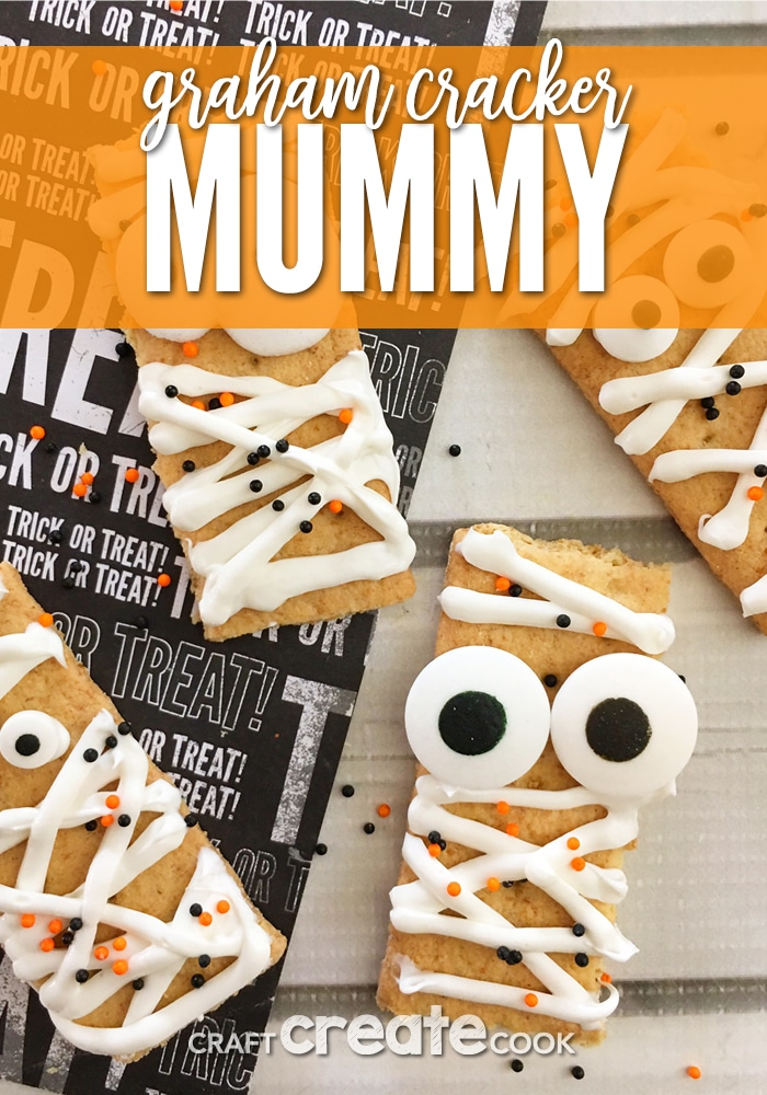 Our Graham Cracker Mummies are super easy to make but still adorable!