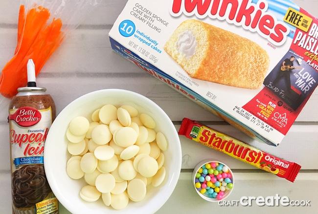 Snowman Twinkie Treats