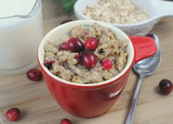 Baked Cranberry Oatmeal is the perfect holiday or weekend breakfast!