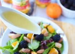 This honey ginger vinaigrette is a healthy substitution to using traditional salad dressing.