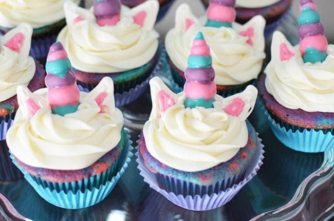 Anyone can make these simple unicorn cupcakes for a unicorn party, special event or just because!