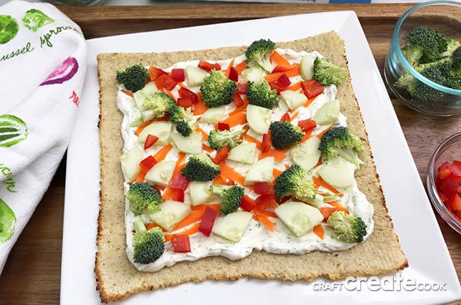 Easy Low Carb Veggie Pizza