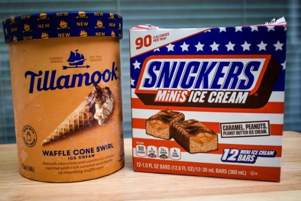 Publix snickers and ice cream.