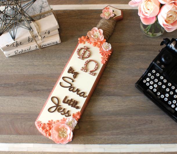 Decorate Greek Paddle  Custom Wood Letters DIY