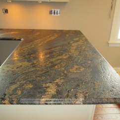 Kitchen Counter Overhang Folding Cart 3 Cm Forest Fire Granite Top In Antioch, Il ...