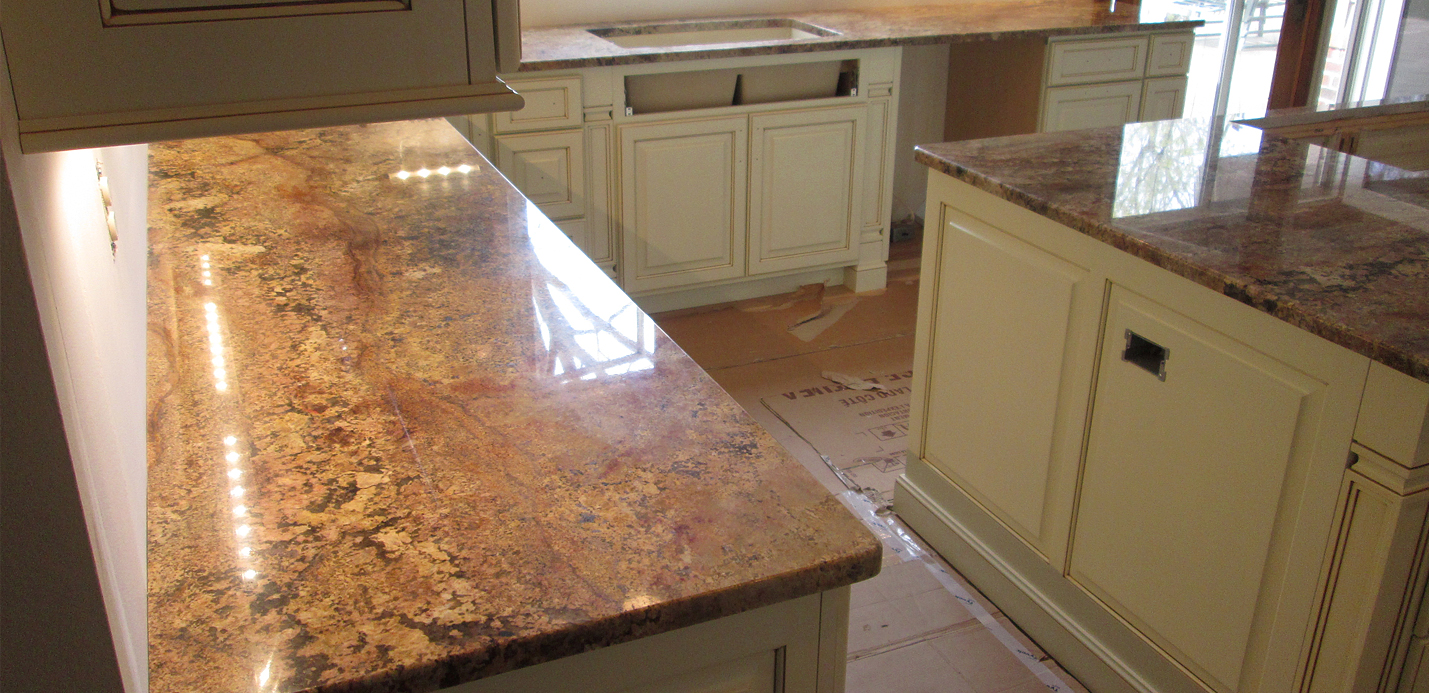 Granite Kitchen Countertop  Island w 38 Top Radius