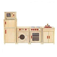 Kids Wood Kitchen Aid Ksm Viga Wooden Set Fridge And Oven Reviews