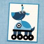 Robot Birthday Card #4