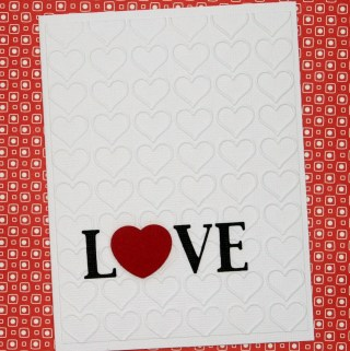 31 Days of Handmade Cards - Day 4 #lovecard #valentinecard #greetingcards #hearts