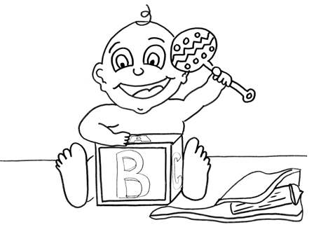 Printable Babies & Bedtime Coloring pages