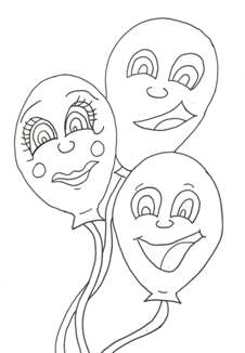 Free Party coloring pages provided by Craft Elf