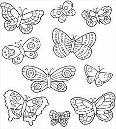 Butterfly Patterns for Applique, Sewing, Quilts