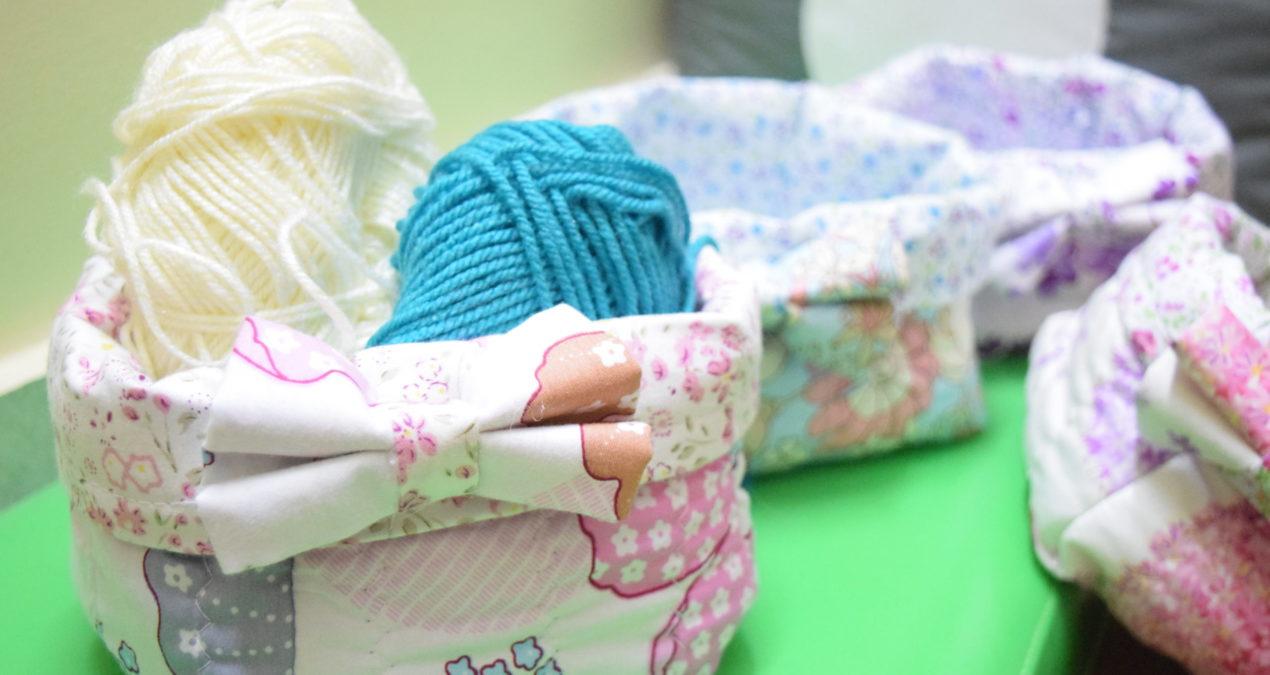 Mini Fabric Storage Buckets