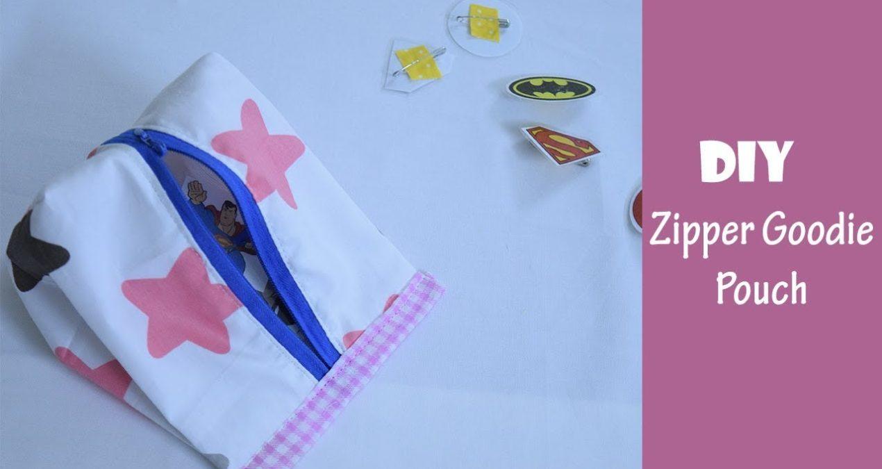 DIY Easy To make kids Goodie Zipper Bag