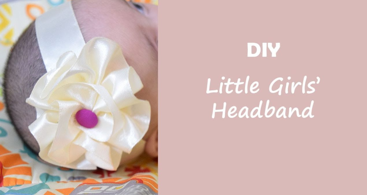 Easy to make a DIY Girls' Headband in 5 minutes