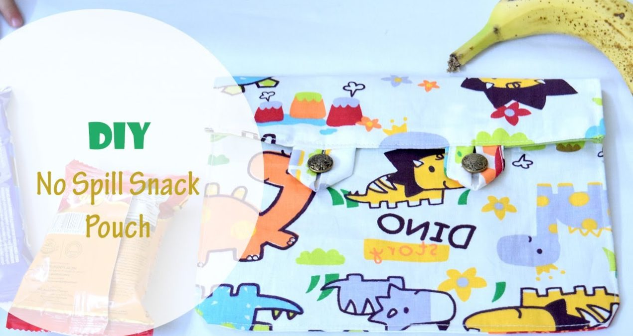 DIY 5 minute No spill Kids' Fabric Snack Bag