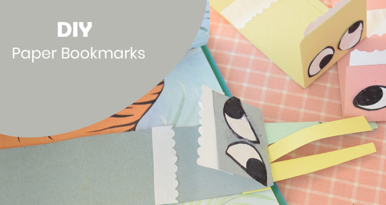 DIY 2 Minute Paper Bookmarks