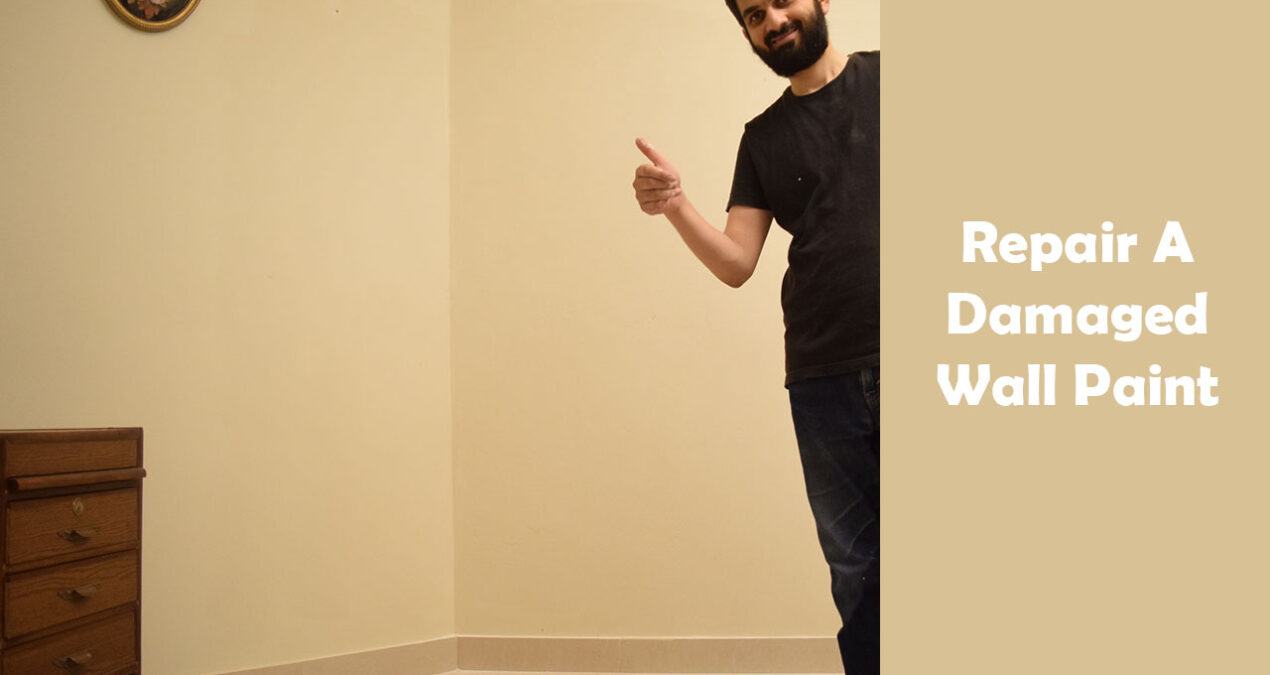 How to repair a damaged wall paint due to Seepage