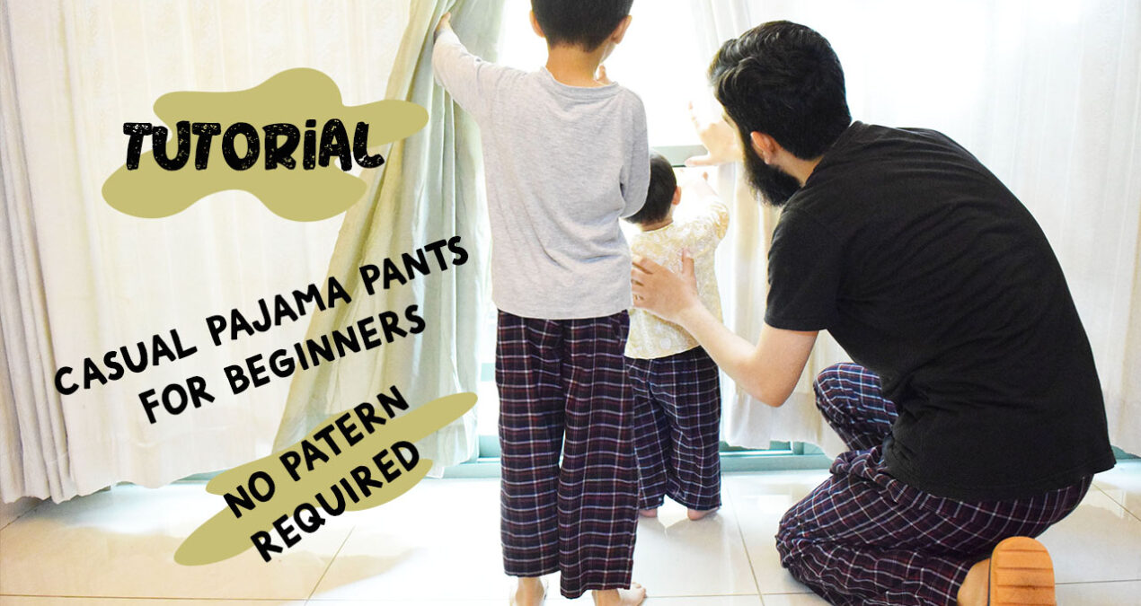 Very Easy Casual Pajama pants cutting and stitching for beginners- DIY Without any pattern
