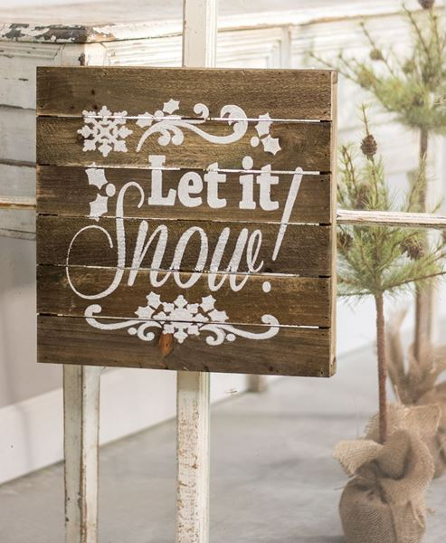 Craft House Designs  Wholesale Let it Snow Slatted Wood Sign